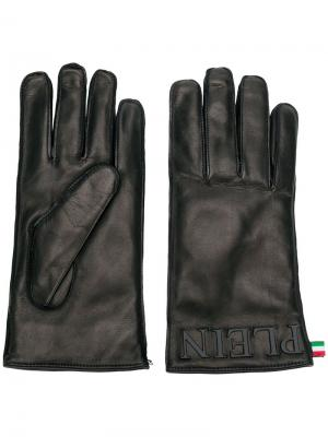 Перчатки с логотипом Philipp Plein. Цвет: черный