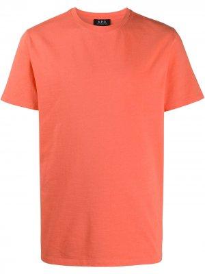 Футболка с круглым вырезом A.P.C.. Цвет: оранжевый