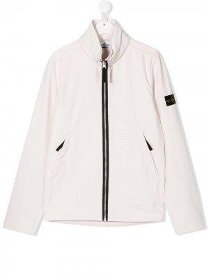 Куртка на молнии Stone Island Junior. Цвет: нейтральные цвета