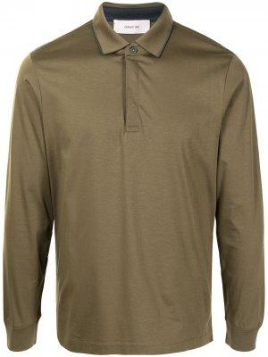 Рубашка поло с длинными рукавами Cerruti 1881. Цвет: зеленый