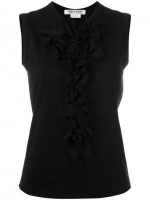 Ruffled vest Comme Des Garçons. Цвет: чёрный