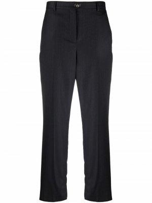 Straight-cut trousers Salvatore Ferragamo. Цвет: серый