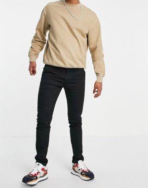 Узкие саржевые брюки чиносы Drake-Черный цвет Farah