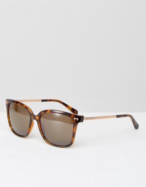 Солнцезащитные очки Elin Ted Baker. Цвет: коричневый