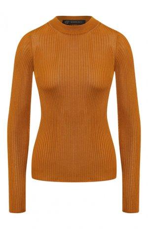Пуловер из вискозы Versace. Цвет: бронзовый