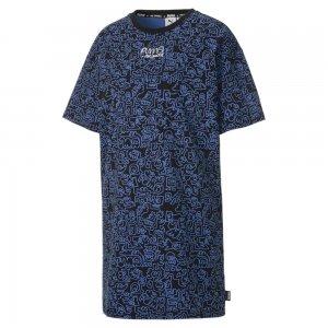 Платье x MR DOODLE Womens Printed Tee Dress PUMA. Цвет: черный