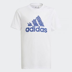 Футболка Aaron Kai Sportswear adidas. Цвет: белый