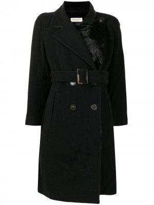 Двубортное пальто с поясом Dries Van Noten Pre-Owned. Цвет: черный