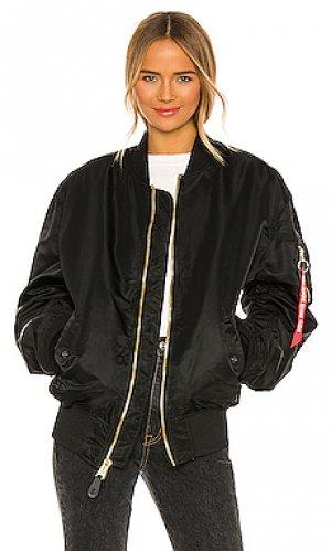 Куртка l-2b ALPHA INDUSTRIES. Цвет: черный