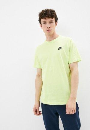 Футболка Nike M NSW CLUB TEE. Цвет: зеленый