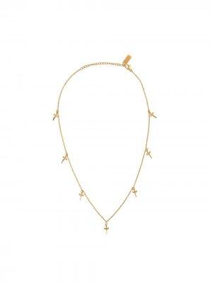 Колье с подвеской Nialaya Jewelry. Цвет: золотистый