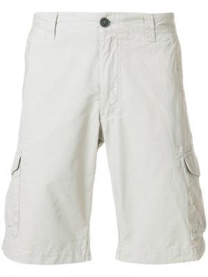 Приталенные шорты-чинос Woolrich. Цвет: нейтральные цвета