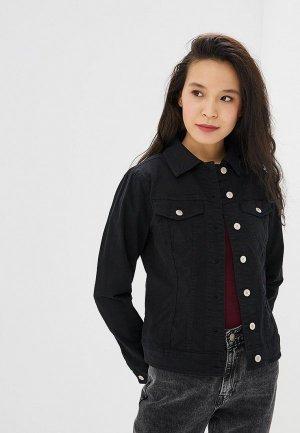 Куртка джинсовая United Colors of Benetton. Цвет: черный