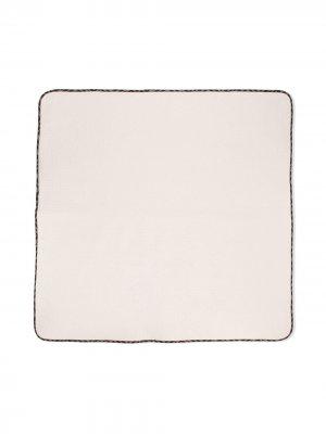 Одеяло с контрастной окантовкой Fendi Kids. Цвет: нейтральные цвета