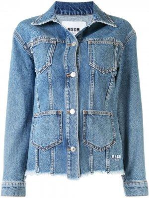 Джинсовая куртка с карманами MSGM. Цвет: синий