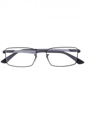 Очки с квадратной оправой Ray-Ban. Цвет: черный