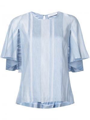 Полосатая блузка с рукавами-кейпом Kimora Lee Simmons