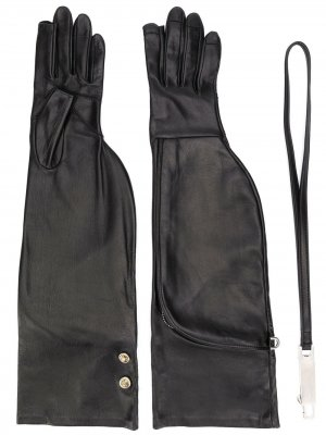 Перчатки Larry Rick Owens. Цвет: черный