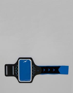 Синий браслет с держателем для телефона и светодиодными лампами A Hama. Цвет: синий