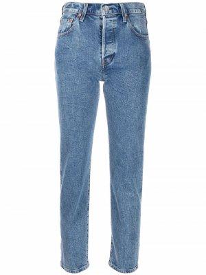 Levis укороченные джинсы 501® Original Levi's. Цвет: синий