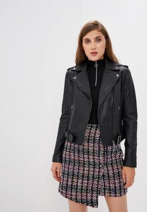 Куртка кожаная Diesel. Цвет: черный