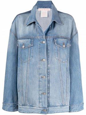 Джинсовая куртка оверсайз Acne Studios. Цвет: синий