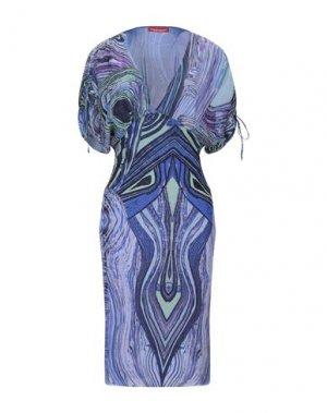 Платье до колена ANGELO MARANI. Цвет: синий