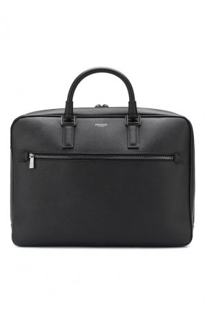 Кожаная сумка для ноутбука Evoluzione Serapian. Цвет: чёрный
