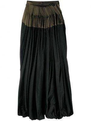 Front-pleated midi skirt Gianfranco Ferré Pre-Owned. Цвет: зеленый