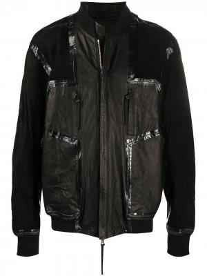 Двусторонняя куртка Boris Bidjan Saberi. Цвет: черный