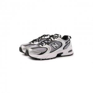 Текстильные кроссовки 530 New Balance. Цвет: чёрно-белый