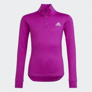 Джемпер AEROREADY Warming Reflective Sportswear adidas. Цвет: фиолетовый