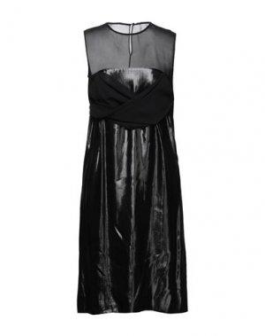 Платье миди ANGEL SCHLESSER. Цвет: черный
