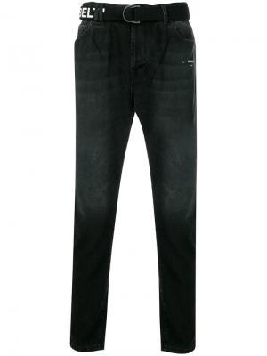 Зауженные джинсы Off-White. Цвет: черный