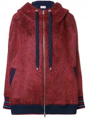 Куртка-бомбер с капюшоном MRZ. Цвет: красный