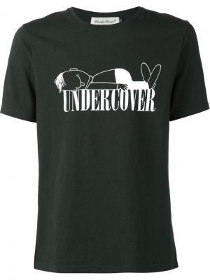 Футболки и жилеты Undercover. Цвет: зелёный