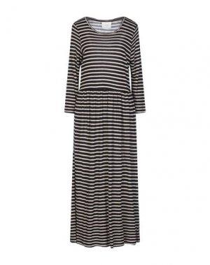 Длинное платье JUST FEMALE. Цвет: черный