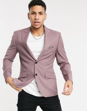 Приталенный пиджак -Розовый цвет Harry Brown