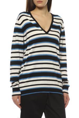 Пуловер Dolce&Gabbana. Цвет: белый, черный, голубой