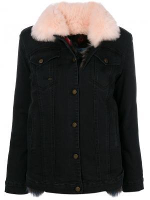 Джинсовая куртка Mr & Mrs Italy. Цвет: чёрный