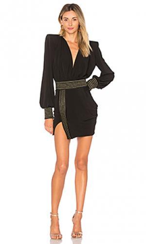 Мини платье ready Zhivago. Цвет: черный