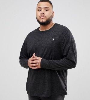 Темно-серый меланжевый лонгслив с логотипом Big & Tall Polo Ralph Lauren