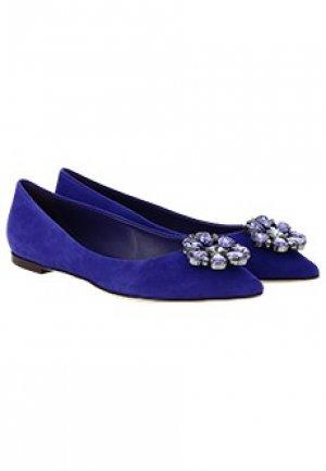 Балетки DOLCE&GABBANA. Цвет: фиолетовый
