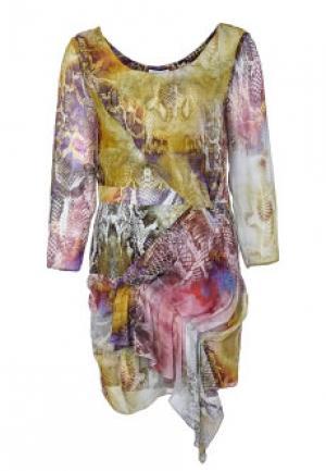 Платье FAITH. Цвет: разноцветный
