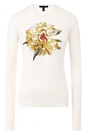 Пуловер из смеси шерсти и шелка Escada. Цвет: белый
