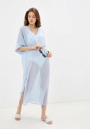 Платье пляжное Donatello Viorano. Цвет: голубой