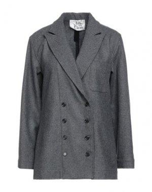 Пиджак ATTIC AND BARN. Цвет: серый