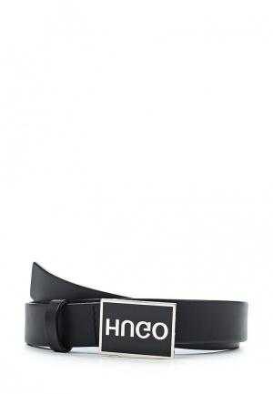 Ремень Hugo Boss. Цвет: черный