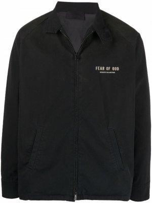 Легкая куртка с логотипом Fear Of God. Цвет: черный