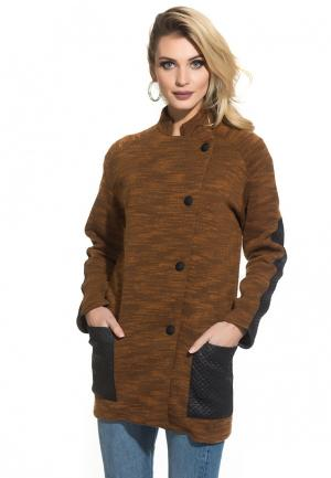 Пальто Gloss Amy. Цвет: коричневый